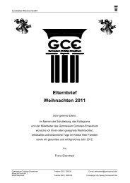 Elternbrief Weihnachten 2011 - GCE Bayreuth