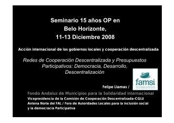cooperación descentralizada - Prefeitura Municipal de Belo Horizonte