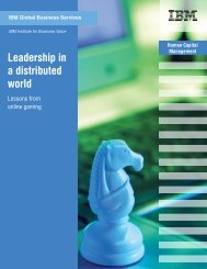 Leadership in a distributed world - IBM