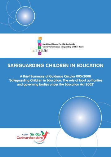 SAFEGUARDING CHILDREN IN EDUCATION