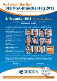 Auf nach Berlin! DEHOGA-Branchentag 2012