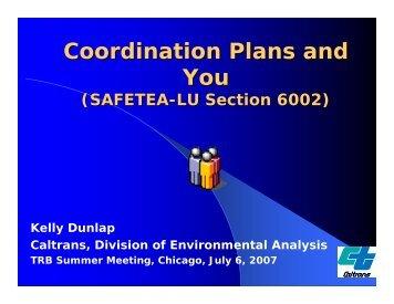 Coordination Plans