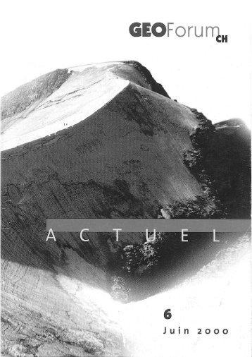 GEOforumCH ACTUEL - Platform Geosciences