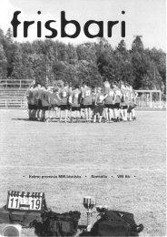 Frisbari 1/2000 - Ultimate.fi