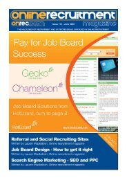 Issue 113 - June 2009 - Online Recruitment Magazine