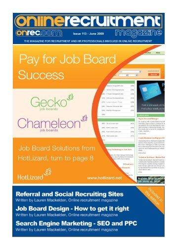 Issue 113 - June 2009 - Online Recruitment Magazine