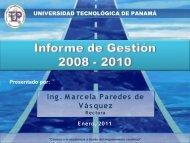 investigación - Universidad Tecnológica de Panamá