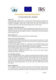 Juvenile Idiopathic Arthritis - PRINTO