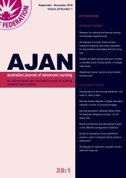 November 2010 - Australian Journal of Advanced Nursing