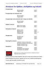 Armaturer for kjøkken, storkjøkken og industri - Bernhard Moe AS