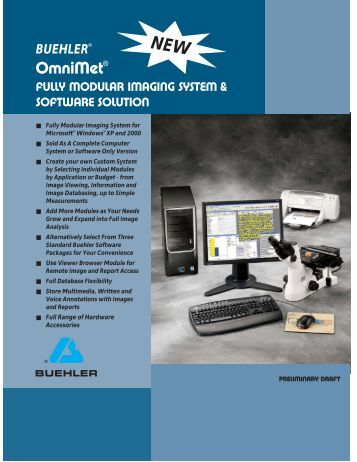 fully modular imaging system & software solution