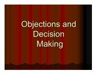 Objections and Decision Making - Good News Gospel Explosion
