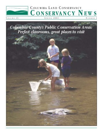 03-101-CLC News Spring 2003.qxd - Columbia Land Conservancy