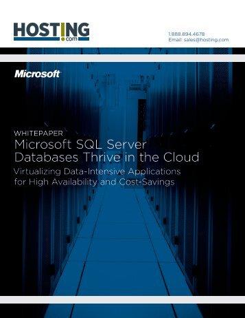 Microsoft SQL Server Databases Thrive in the Cloud - GCommerce