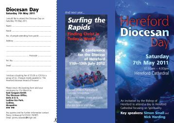 Diocesan Day - The Diocese of Hereford