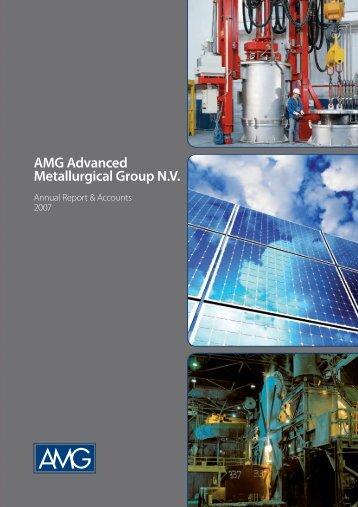 PDF 3.89 MB - AMG Advanced Metallurgical Group NV