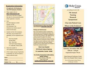Holy Cross Research Day - Florida Atlantic University