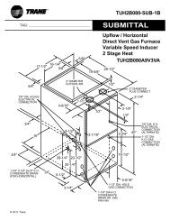 Trane Submittal 5 Ton Split System Heat Pump 1 Ph With
