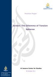 Position Paper Jordan: The Dilemma of Tension Spheres
