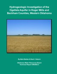 Hydrogeologic Investigation of the Ogallala Aquifer in Roger Mills ...