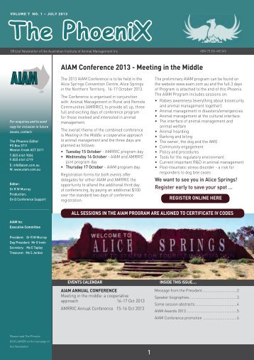Phoenix July2013.indd - Australian Institute of Animal Management Inc
