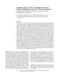 Signaling Capacity of the T Cell Antigen Receptor Is Negatively ...