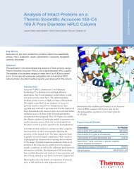 Analysis of Intact Proteins on a Thermo Scientific Accucore 150-C4 ...