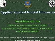 Applied Spectral Fractal Dimension