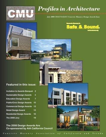 2008 cmacn/aiacc concrete masonry design awards