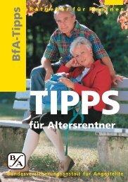 Tipps für Altersrentner [pdf] - Wert