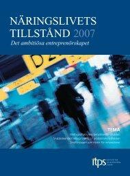 NÄRINGSLIVETS TILLSTåND 2007