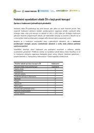 Zpráva o hodnocení jednotlivých předmětů - Bezkorupce
