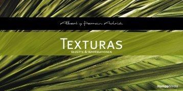 Texturas Broschüre – Rezepte und Informationen - Hampp Media