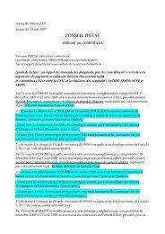 CONSEIL D'ETAT statuant au contentieux - Globenet