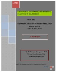 A study on Air pollution in Rwanda with reference to Kigali ... - REMA