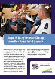 Impact burgerinspraak op buurtleefbaarheid beperkt - Movisie