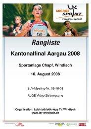 Kantonalfinal Aargau 2008 - LAR Windisch