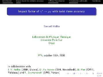Impact factor of *T with twist three accuracy