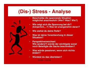 (Dis-) Stress - Analyse