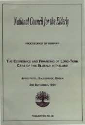 The Economics and Financing of Long-Term Care of the Elderly in ...