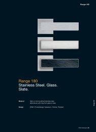 Range 180 Stainless Steel. Glass. Slate.