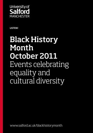 Black History Month October 2011 Events celebrating equality and ...