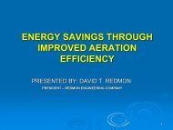 ENERGY SAVINGS THROUGH IMPROVED AERATION EFFICIENCY
