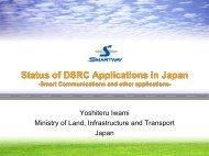 Status of DSRC Applications in Japan