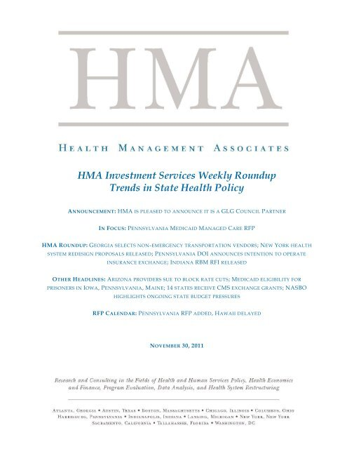 HMA Investment Services Weekly Roundup Trends in State