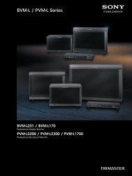 BVM-L / PVM-L Series - Sony
