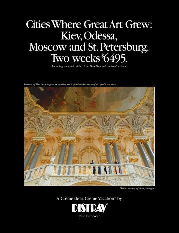 Cities Where Great Art Grew: Kiev Odessa, Moscow and St - Distrav