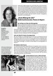 40 BAYERISCHER LANDTAG - Angelika Weikert, Mdl