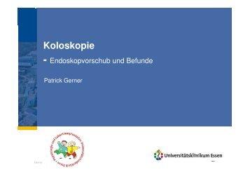 Koloskopie - Kinder-Gastroenterologie-Essen