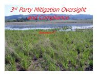 3rd Party Mitigation Oversight and Compliance - The Conservation ...
